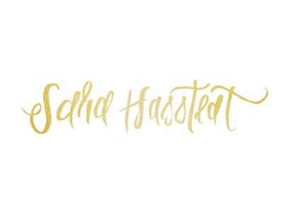 Sara Hasstedt handlettering branding identity