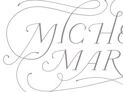 Michelle March II handlettering branding identity photography flourish calligraphy