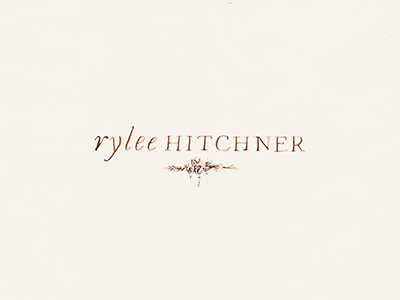 Rylee Hitchner Logo Concept B handlettering branding identity photography