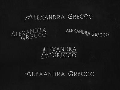 Alexandra Grecco  hand drawn lettering branding identity logo