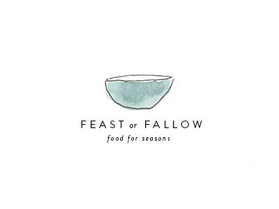 Feast or Fallow branding identity food holistic organic foodie blog food blog