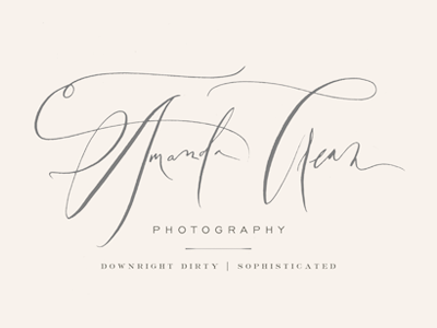 Amanda Crean Logo hand lettering calligraphy photography