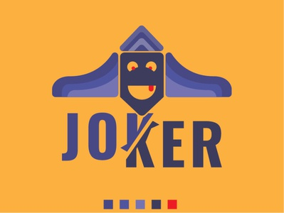 JOKER Logo Design Template abstract red blue logos logotype branding vector luxurious logo design professional modern minimalist joker movie jokerlogo logodesign joker logo joker