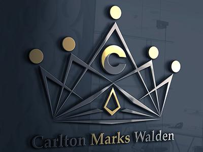 Logo design gold black modern letter crowns minimalist vintage styling print luxury luxurious logo