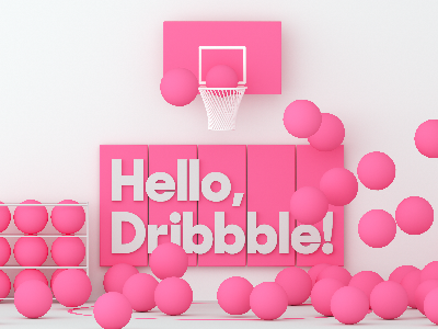Debut illustration typography hello debut pink dribbble 3d