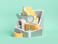 Wordpress illustration for Godaddy