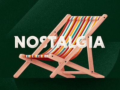 Nostalgia illustration digital feeling furniture grain texture illustration chair