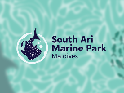 South Ari Marine Park - A Marine Adventure Awaits logotype fish whale marine life logodesign logo marine