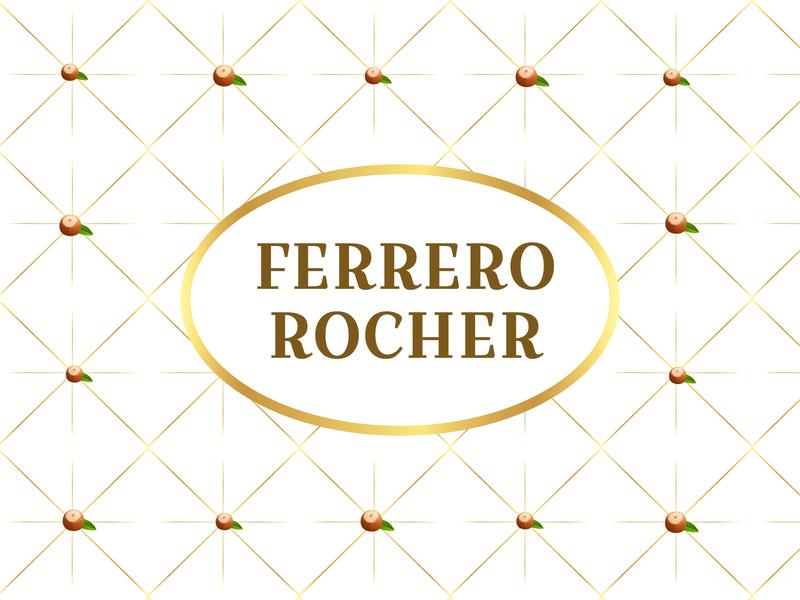 Weekly Warmup   Ferrero Rocher wrapper dribbbleweeklywarmup chocolate weeklywarmup