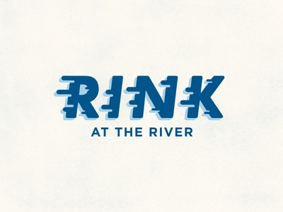 Rink at the River Logo logo design ice skating ice rink vector illustration branding logo typography design