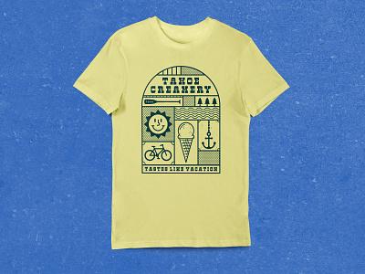 Tahoe Creamery 1644 - T-Shirt Design t-shirt design apparel nevada tahoe reno design reno design illustration