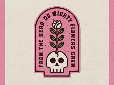 Mighty Flowers badge badge design vector nevada reno design reno design illustration