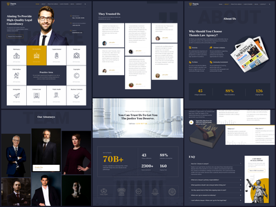 Website for A Law Firm grid layout website design lawyer law firm