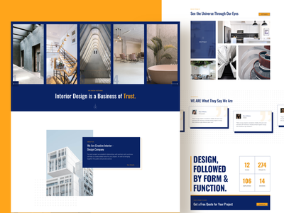 Interior Design Website architecture page builder website design webdesign interior design