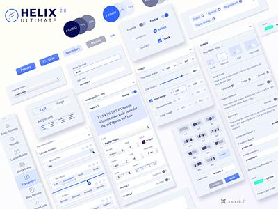 Helix Untimate 2.0 ui components design system framework helix joomla