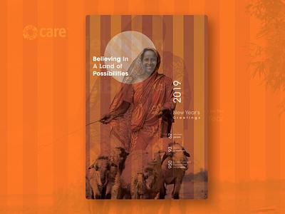 New Years's Greeting Card branding print new year graphic design care ngo cmyk desktop publishing greetingcard