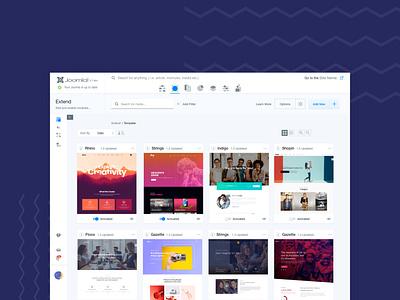 Joomla 4 admin template concept 2019 cms concept design redesign admin template joomla 4 joomla