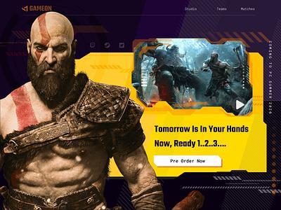 Game Landing Page gaming game webdesign templates god of war gaming website