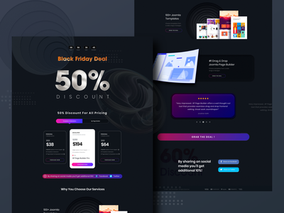 Black Friday Offer Landing Page deals paper textures offers website design landingpage blackfriday