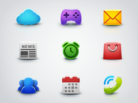 """Icons for app """"Everfriends"""""""