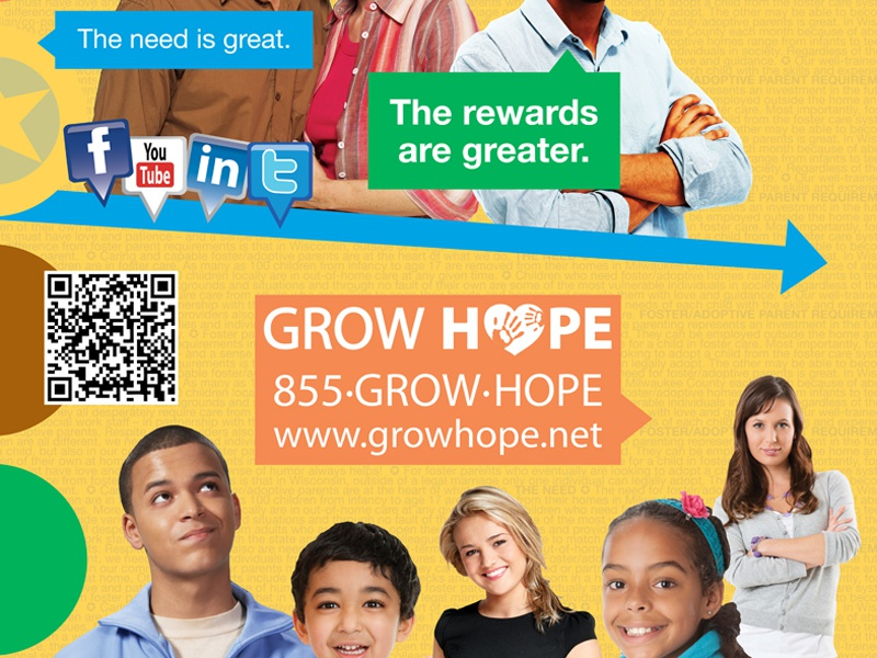 Foster Care poster poster recruitment foster care grow hope
