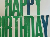 Happy birthday letterpress poster