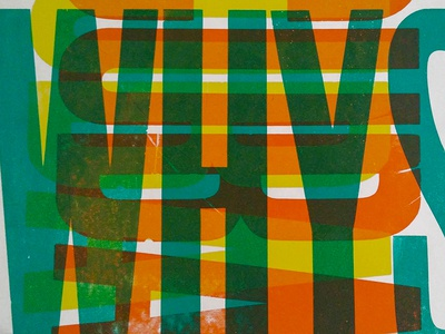 Go deeper and answer the whys letterpress poster
