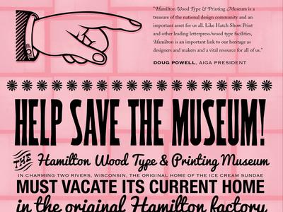 Save Hamilton poster series