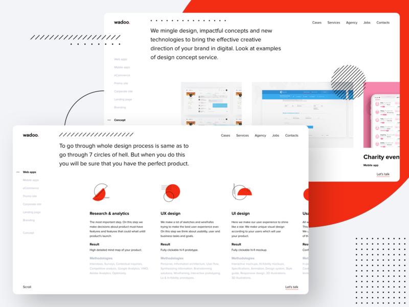 Wadoo. Design Process uiux web wadoo ux user interface design user experience ui trends ui tilda sketch product mobile interface digital design corporate identity branding brand identity