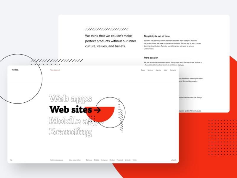 Services & Philosophy design wadoo tilda product userinterface user experience brand identity design branding ui design web mobile digital ux ui ui trends brand identity uiux