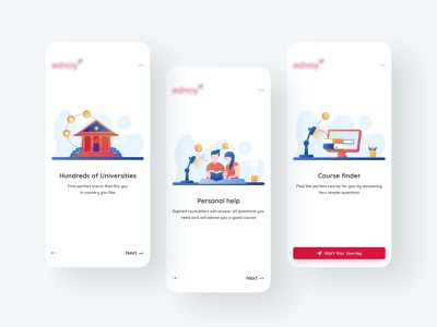 Onboarding screens modern android student brand identity explore typography ios ux ui education app application mobile onboarding screens journey university illustration user experience design user interface design