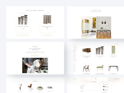 Discover new products modern landing page design responsive design inspiration manufacture craft nature discover product page marketplace ecommerce typography website brand identity web application interface mobile user experience design user interface design