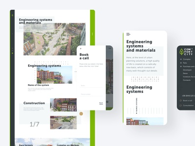 Engineering system and materials 3d construction pattern contact form smart city structure navigation responsive typography website ux ui branding brand identity interface web mobile user experience design user interface design real estate