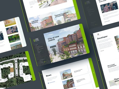 City of new events typogaphy inner page infrastructure user interface design user experience design web ui brand identity branding industry building construction company apartment complex smart town urban research website design logo design real estate 3d render