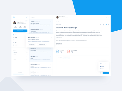 Mailbox Inbox – Web App chat web notification dashboard messages interface design minimalism email app mailbox