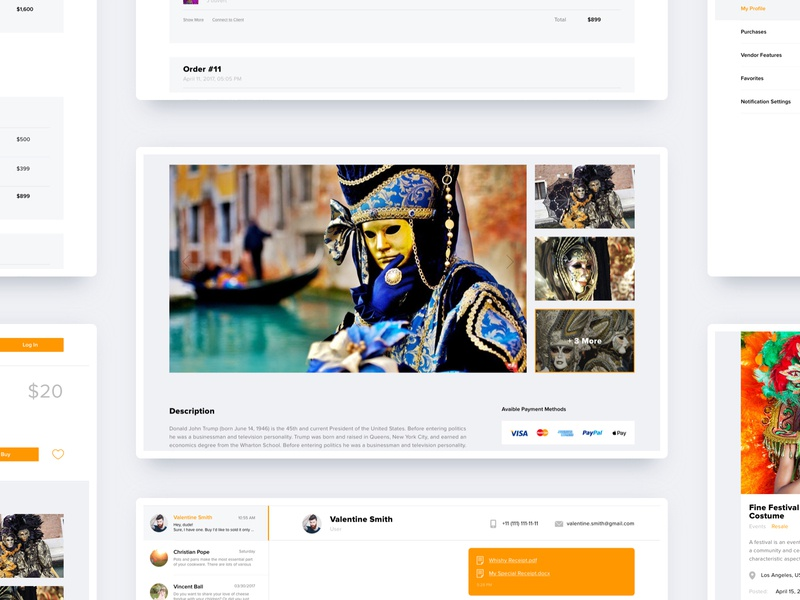 Carnival Costumes – Online Store research online store modern amazon costume carnival mind map wireframe prototype web design user interface design user experience design