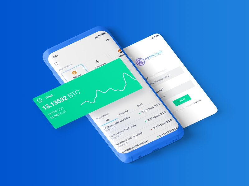 My Crypto Signals trend marketing exchange trading blockchain signals illustration ui ux user experience design user interface design cryptocurrency bitcoin app application crypto dashboard landing page web site brand identity