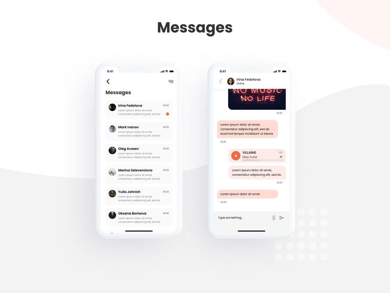 UI Kit for Dating Mobile Application couples dating facebook flame girl ios like messenger millennials mobile app design music mutch playlist social swipe tinder ui kit user experience design user interface design application