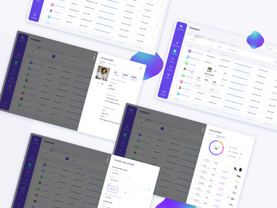 Contacts / Admin toolbar ( CRM, Dashboard) table ui design list chart filters contacts profile admin crm dashboad figma ux