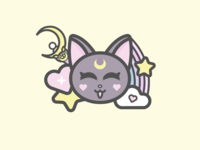 Sailor Moon Luna Illustration