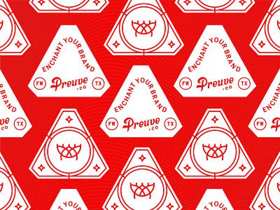 Sacred Enamel digital preuve brand extension brand swag merchandise merch pin enamelpin enamel red mystical sacred woodtype