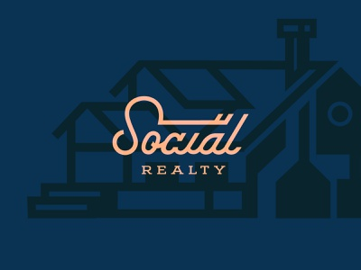 Social Realty friendly social house home key typedesign type lettering typogaphy real estate