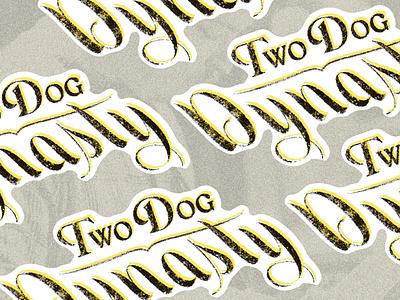 Two Dog Sticker music punk sticker texture
