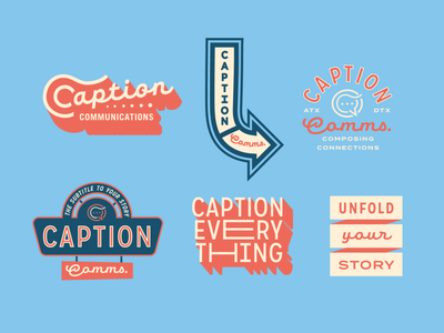 Caption Communications Badge System commerical lettering signage script protest sans-serif
