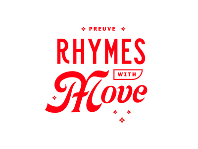 Preuve Rhymes with Move cosmopolitan sanserif luxury rhymes marketing digital red tyopgraphy