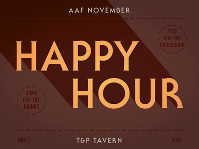 Happiest Hour type design happy hour myfonts serif gothic trade gothic itc fontacular