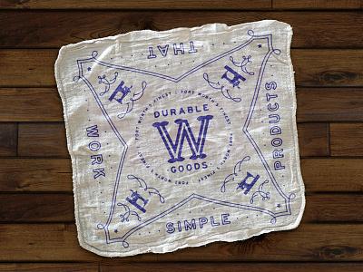 Durable Bandana Rag w durable goods maker sewing fort worth handmade durable shop towel shop rag handkerchief bandana