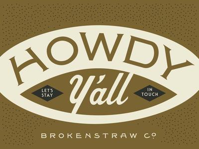 Brokenstraw Promo Card