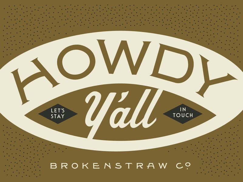 Brokenstraw Promo Card cigar gold typedesigner typedesign vintage typography solotype postcard promo