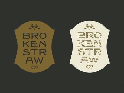 Brokenstraw Crest vintage type typedesign spur forrest gold inline alaska dan x. solo typography type appleseed solotype badge vintage crest